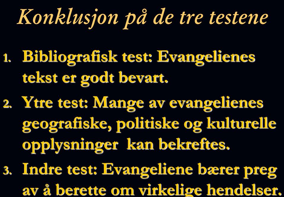 Tre-tester om NT